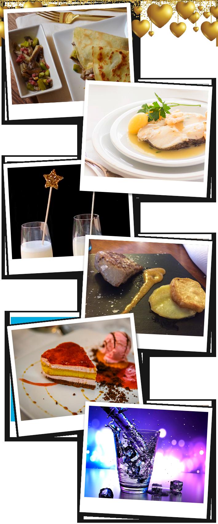menú San Valentín en el Restaurante Villaisabelica