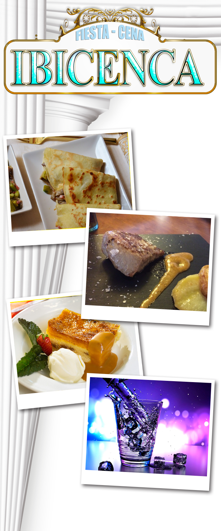 menú Cena Ibicenca en el Restaurante Villaisabelica